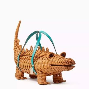 KateSpade Swamped3d Wicker ALLIGATOR BAG 😍